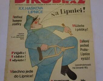 Vintage Dikobraz Magazine 1978 Evzen Seycek Satire and Humour Czechoslovakia Czech Caricature (Porcupine)