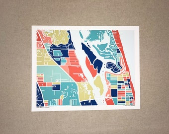 Vero Beach Map Print