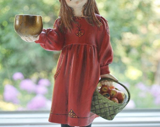 Carl Larsson Apple Girl Candle Holder Figurine Brita Candy Design Norway