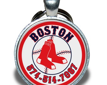 Pet ID Tag - Boston Red Sox *Inspired* - Dog tag, Cat Tag, Pet Tag