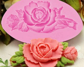 Small Rose Silicone Mold - Baking Fondant Wedding Cake Decorating Tools Flower Leaf Garden Spring