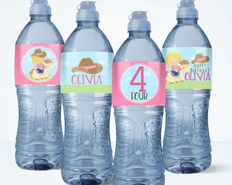 Pony Water Bottle Label // Water Bottle Wrapper // Personalized Water Bottle Label // Party Printables | 34