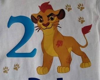 Lion Guard Birthday Shirt, Lion Guard, Kion, 2nd birthday, Birthday Shirt, Disney Shirt, Lion Guard Party, Boys Birthday, Girls Birthday