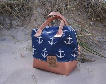Maritime Handtasche,Ellie Travel Case, Anker, Kunstleder, bronze, Tasche,Meer,Reise,Cotton&Steel, handmade