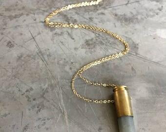 9 mm Bullet Crystal Necklace