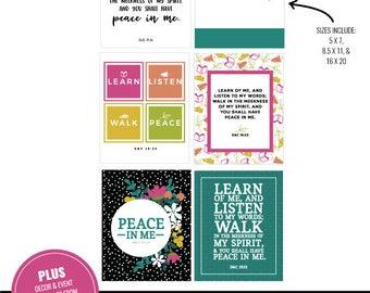 2018 LDS Young Women Mutual Theme Printable Kit MEGA BUNDLE | Peace In Me Mutual Theme |Mega Bundle | D&C 19:23 | Mormon Art