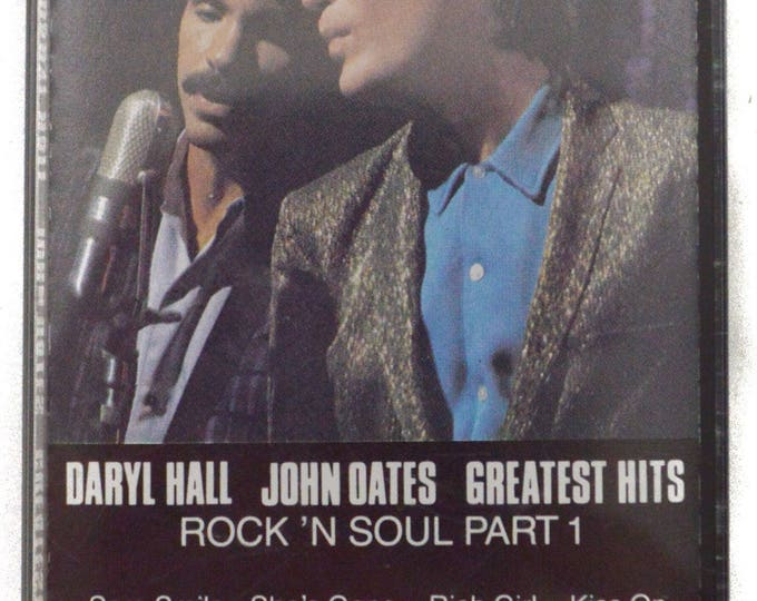 Vintage 80s Hall and Oates Greatest Hits Rock 'n Soul Part 1 Album Cassette Tape