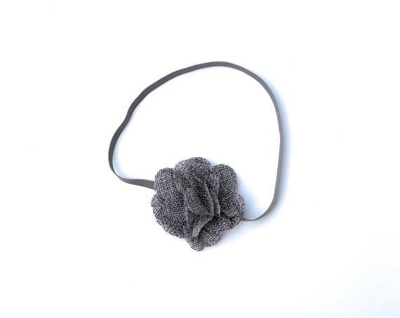Gray Flower Headband, Newborn Headbands, Easter Headband, Flower Headband, Baby Headband Baby, Headbands, Newborn Headband