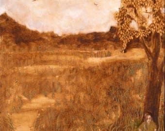 Contemplation - Large Wall Art, Giclee Art Print, Figure Art