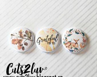 "3 Badges 1"" Grateful"