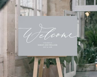 PRINT Wedding Welcome Sign - Calligraphic style