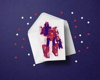 Grimlock Transformers greetings card (A6 - 105 x 148mm)