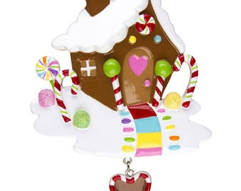 Gingerbread House Personalized Christmas Ornament / First Home / New Home / Home for Christmas