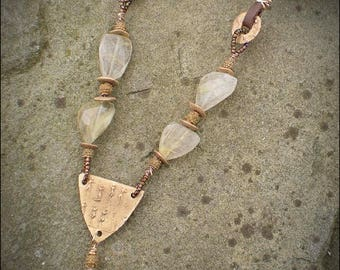 Bronze Shield Protective Amulet Necklace
