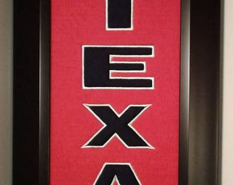 Houston Texans Heritage Team Banner....Framed