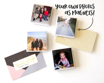 Personalized magnets, custom photo magnets, personalized gift, custom magnets, gifts for mom, birthday gifts for friends, tile magnets