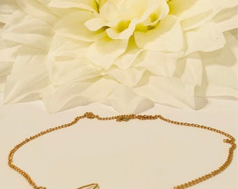 Gold chain Heartbeat necklace