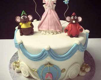 Cinderella Cake Toppers