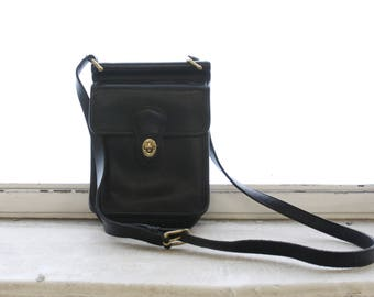 Vintage Coach Black Leather Murphy Style 9930 Crossbody Bag