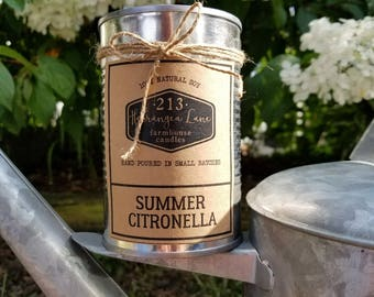summer citronella candle. 100% soy.