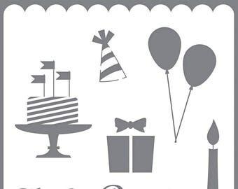Echo Park Happy Birthday Stencil