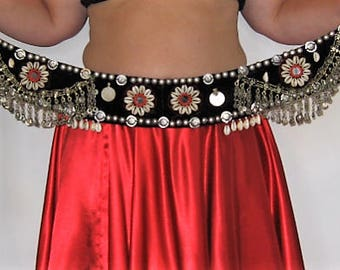 Tribal belt,Belly dance,Belly dance belt,Tribal belly dance,ATS Tribal Fusion belt, Shell belt, Tribal chain belt, Tribal kuchi belt