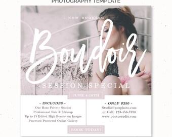 Boudoir Marketing Template for Photographer, Boudoir Photography Template, Boudoir Marketing Set, Boudoir Mini Session Template, m197bd