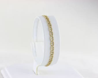 14K Yellow Gold Anchor Link Chain Bracelet 6 3/4 Inch long 3.6 mm wide