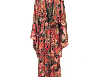 Silk kimono, silk robe, silk kimono robe, red silk kimono, long silk robe, chiffon kimono, kimono jacket, silk kimono jacket, gift for her