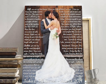 Wedding vows, wedding vows photo, wedding photo, vows on photo,  custom vows, personalized vows, wedding prints, wedding photography