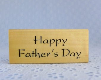 Happy Father's Day Rubber Stamp, by Anita's, Wood Mounted, Father's Day Card Making, Paper Stamping