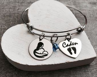 breastfeeding, breastfeeding advocacy, breastfeeding advocate, Mom and baby, Baby Shower, First Time Mom, Silver Bracelet, Charm Bracelet