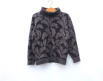 Vintage Jumper   Feathers   Roll Neck