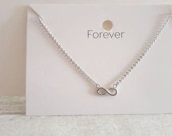 infinity necklace white gold. white gold infinity necklace - pendant forever symbol of endless love