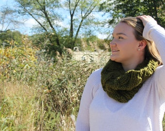 "Cabled Cowl, Sage ""The Emma"""