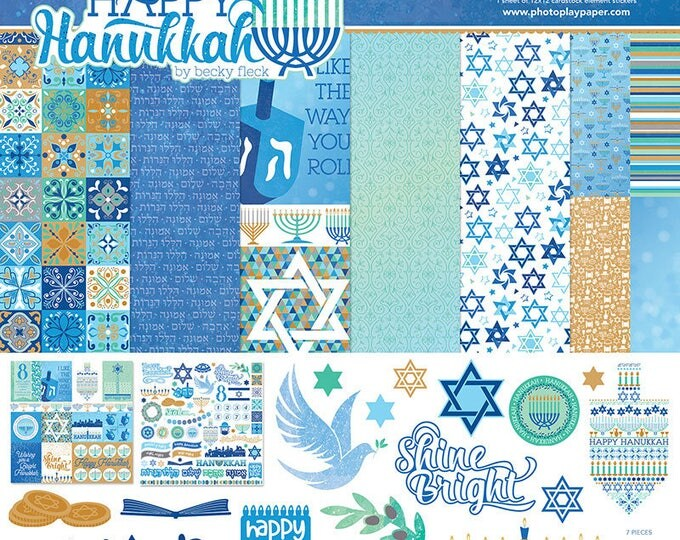 Photo Play HAPPY HANUKKAH 12x12 Scrapbook Paper Collection Kit HK2939