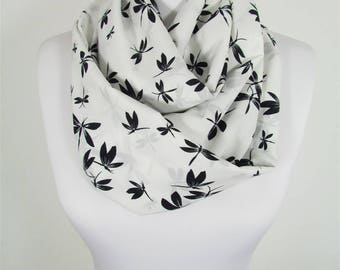Dragonfly Scarf Infinity Scarf Insect Animal Scarf Winter Scarf Women Fashion Accessories Gift For Women For Mom 53