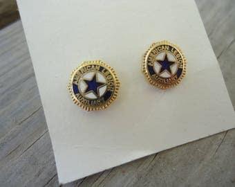 American Legion Auxillary Post Earrings