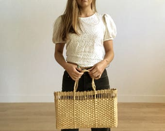 Vintage Straw Woven Purse/Tote