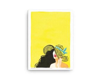 CANVAS Walking on Sunshine Music Poster, Typography Lyrics, 80s Pop Rock Song Illustration, Eighties Minimalist Art Print, Creative Gift