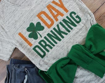 I love Day Drinking Shirt/ Let's Day Drink Shirt/ Womens St. Patricks Day Shirt/ St. Patricks Day Shirt Women/ Irish Shirt/ Shenanigans