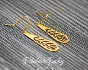 Brass earrings - geometric