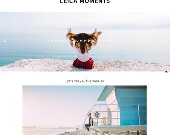 "Blogger Template ""My Leica Moments"" // Responsive Photography Premade Blog Theme Blogspot Design"