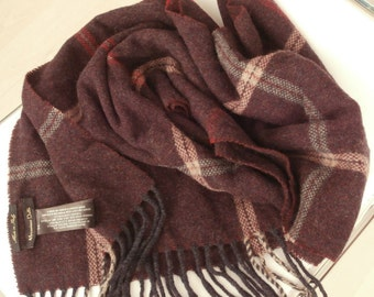 Vintage MASSIMO DUTTI 100%WOOL Men Scarf,Made in Italy