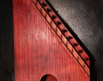 "ON SALE - Vintage 16-1/2"" The 3rd Man Junior Wood Zither Lap Harp - Circa 1950's Instrument"