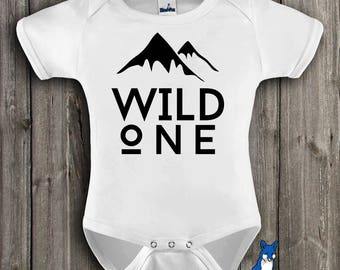 Wild One Baby Clothes,Baby Bodysuit-1st birthday outfit-baby bodysuit-Baby clothing-Cute baby clothes-Wild One-Trendy Kids Clothes,340