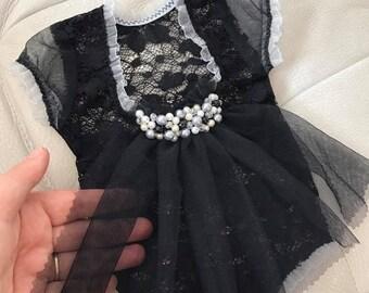 Newborn Photo Prop, Newborn Girl Outfit, Lace Romper, Newborn Romper, Baby Props, Black, Newborn Dress, Baby Romper, Baby Photo Prop