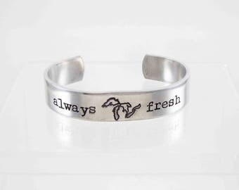 Great Lakes, Michigan Cuff Bracelet, Great Lakes Jewelry, Always Fresh, Lake Michigan, Cuff Bracelet, Aluminum Cuff
