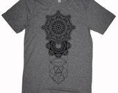 Men's REALMS Mandala Tee Dotwork Sacred Geometry Psychedelic Symmetry Shirt