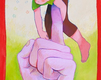 "Original Painting ""Angel on My Fingertip"""